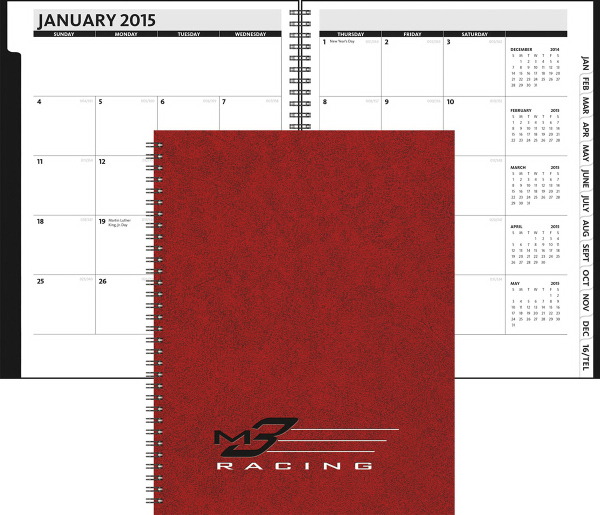 theanalyst monthly planner leatherette dbg promotions order
