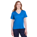 Devon & Jones Ladies' CrownLux Performance™ Plaited Rolled-Sleeve Top